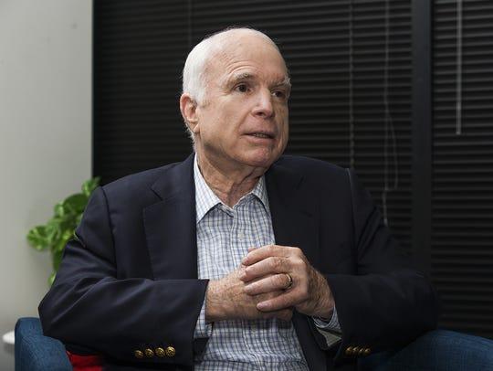 """May 22, 2018: In McCain's memoir """"The Restless Wave:"""
