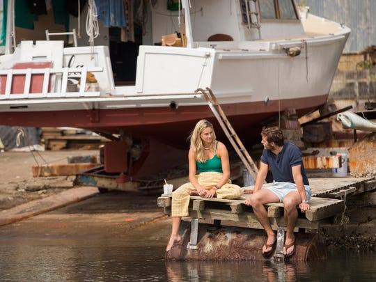 "Sam Claflin and Shailene Woodley play an engaged couple who embark on a romantic sailing trip in ""Adrift."""