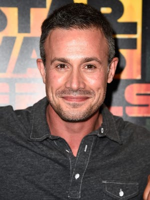 """Actor Freddie Prinze Jr. attends the """"Star Wars: Rebels"""" press line during Comic-Con International 2014 at Hilton Bayfront on July 25, 2014 in San Diego, California."""