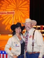 Clem Albertoni with Lydia Miranda and the 2016 Cowboy