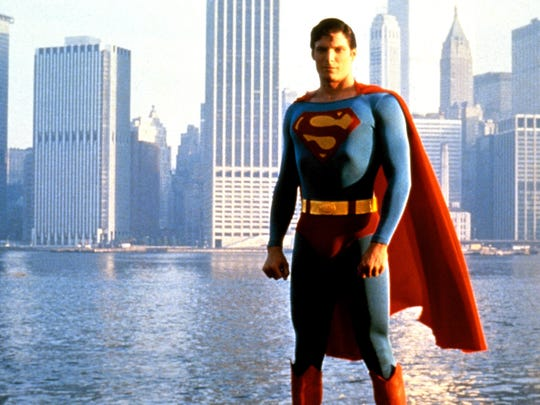 Christopher Reeve as the Man of Steel in 1978.