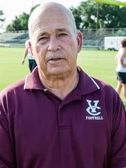 Vermilion Catholic Head Coach Ossie Blaize.