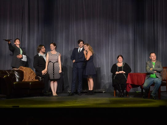 """The cast rehearses for """"The Importance of Being Earnest"""""""