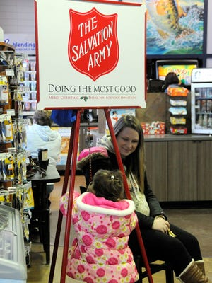 Local nonprofits, such as the Salvation Army and its annual Red Kettle drive shown here, are eligible to apply for grants through the Gannett Foundation's A Community Thrives program.
