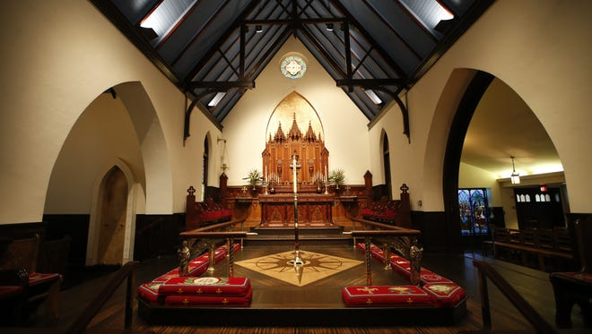The altar inside of St. John's Episcopal Church downtown Tallahassee.