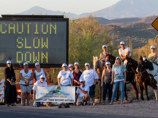 A non-profit group urges drivers to slow down along