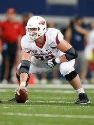Arkansas Razorbacks center Frank Ragnow.