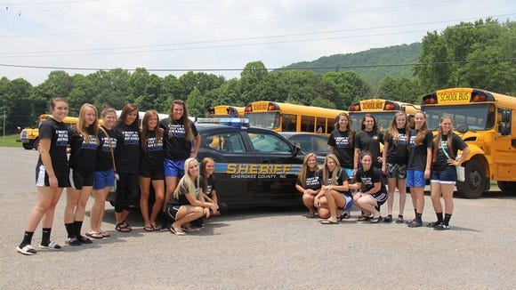 Hiwassee Dam's softball team.