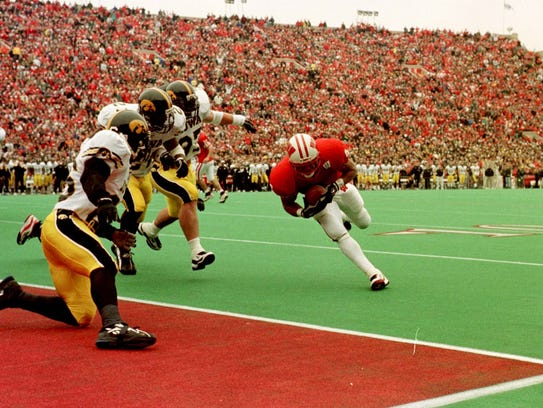 Badgers running back Eddie Faulkner led UW's upset victory over Iowa in 1997 with 119 yards and a touchdown.