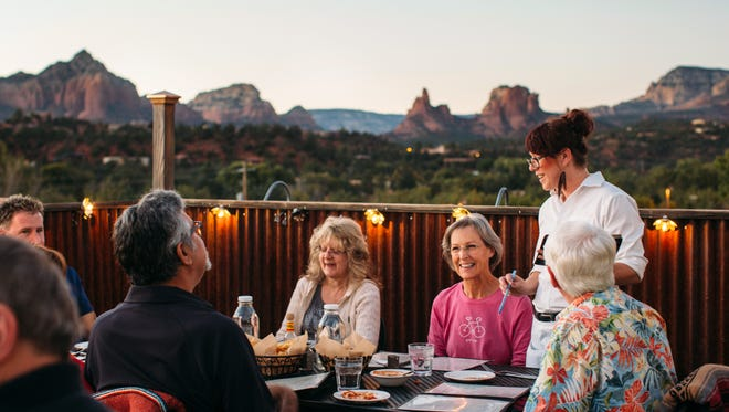 Elote Cafe has beautiful views of Sedona and is popular among both critics and common eaters.