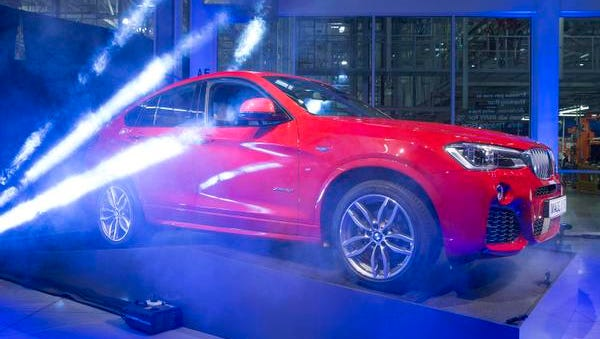 The new BMW X4 debut at a BMW press conference announcing a one billion dollar investment in the upstate last year.