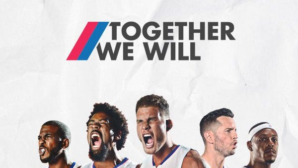 The Clippers and the Mercury are sharing a slogan.