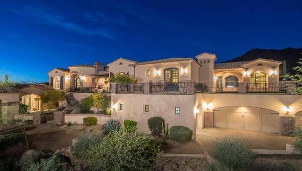 Paul G. Hurst and Patricia Aa Mayer purchased this Tuscan style home in Mesa for $1.8 million.