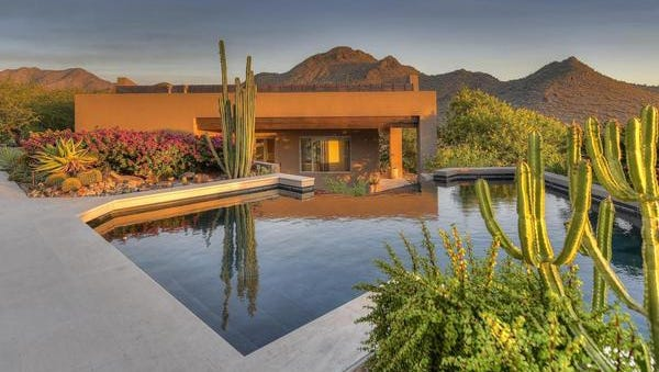 Pat Perez, PGA golfer who took victory in 2009 at the Bob Hope Classic, and his wife, Ashley, purchased this Scottsdale estate in Canyon Heights.