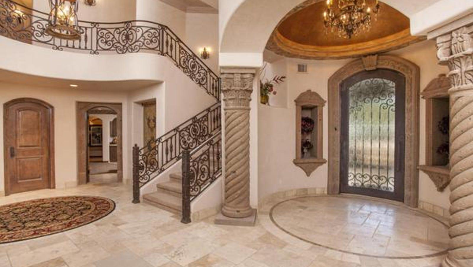 Luxury homes 3m pv mansion has ornate stone lap pool