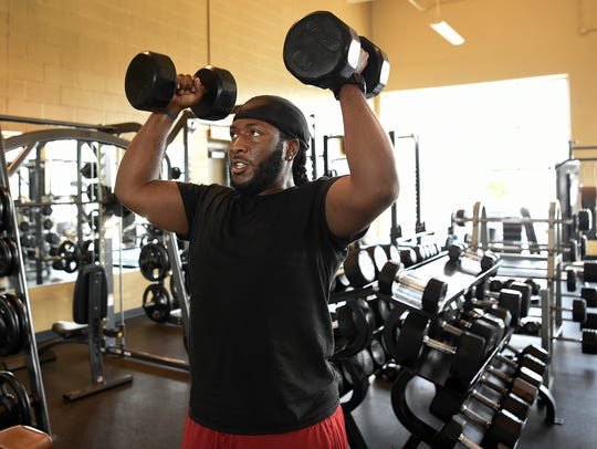 Johnny Reynolds works out at the Bordeaux YMCA on Tuesday,