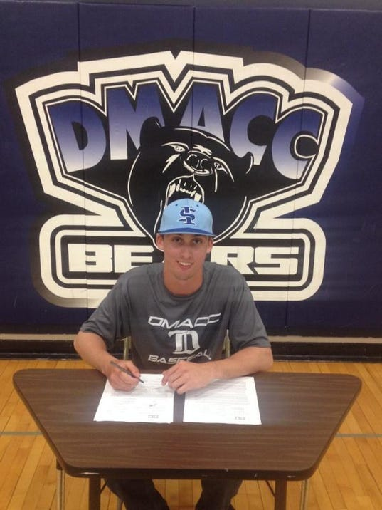 Connor Schwienebart, a 2012 Dallastown graduate, signed a letter of intent to transfer to Indiana State. (SUBMITTED)
