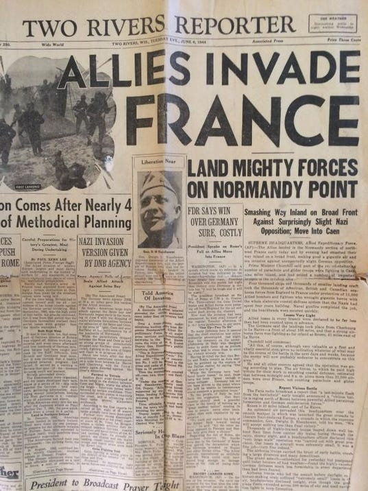 WWII DDay TR Reporter Front Page.jpg