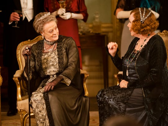 Maggie Smith, left, is joined by another acting great,