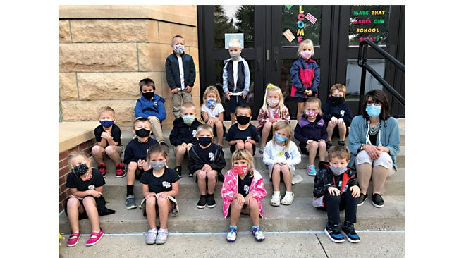 Mrs. Lax's kindergarten class at St. Mary's.