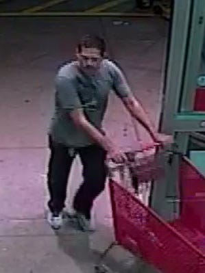 Corpus Christi police are searching for a man who stole four small water heaters from Lowe's on Feb. 16, 2017.