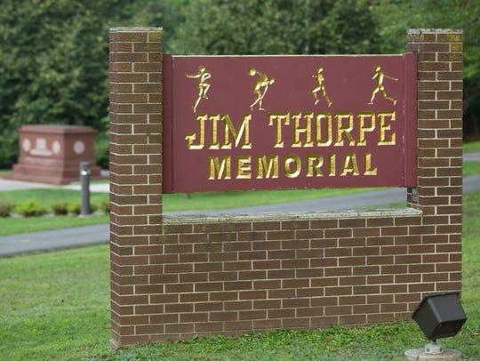 Jim Thorpe was buried in the cities formerly known