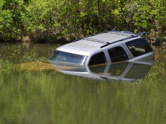 This stolen SUV was found Tuesday in a pond in DeFuniak Springs.