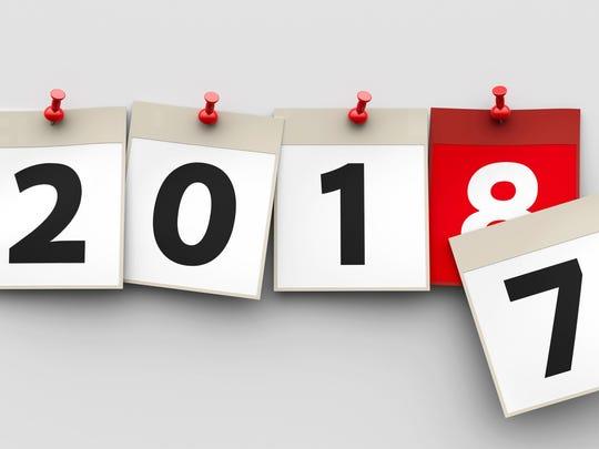Calendar sheets 2018