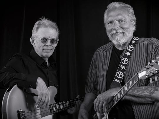 Jack Casady, left, and Jorma Kaukonen of Hot Tuna. Both musicians played at the Woodstock Music and Art Fair in 1969 with Jefferson Airplane. Hot Tuna will perform on the Woodstock site Sept. 30, at the Bethel Woods Center for the Arts Event Gallery.