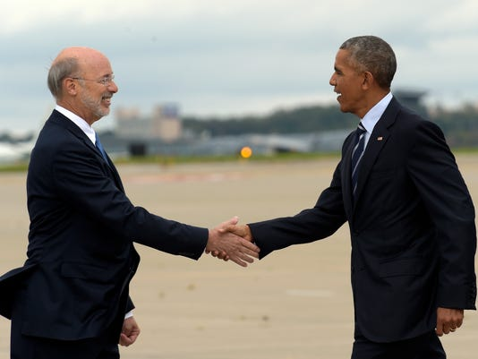 Barack Obama, Tom Wolf