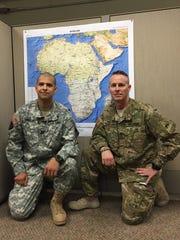 Capt. Rudy Martinez, left, and Staff Sgt. Jezriel Templeman