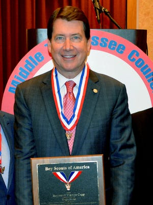 Bill Hagerty named Distinguished Eagle Scout in Franklin ceremony.