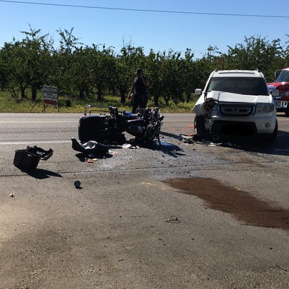 Deputies say an SUV driver pulled in front of an oncoming
