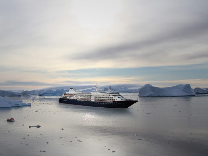 An artist's drawing of luxury line Silversea's soon-to-be-revamped