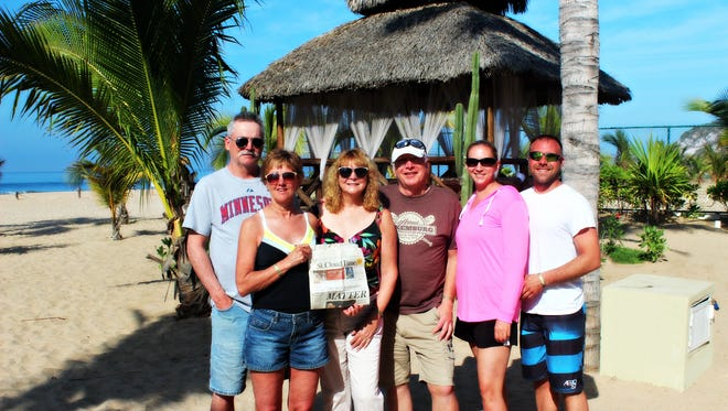 Mitchell and Gail Berg and Sue and Dan Laudenbach met Darcy and Cody Marsolek on a recent trip to Mazatlan.