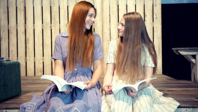 "Brooke Steele (Violet), left, and Delaney Ragusa (Young Violet) star in Ensemble Theatre Cincinnati's production of ""Violet."""