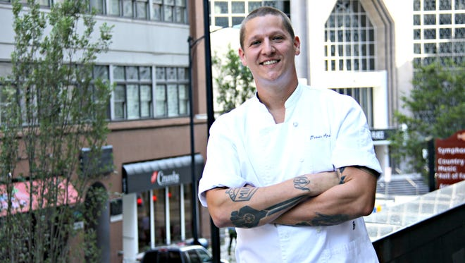 Travis Sparks, the new executive chef of Deacon's New South, is putting the finishing touches on the new restaurant.