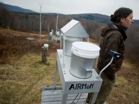 A battery of devices in Underhill samples and measures air pollution — much of which reaches Vermont from upwind, coal-fired power plants.