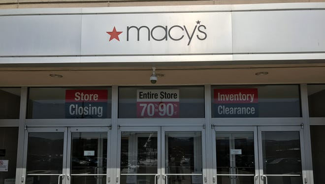 Macy's in the Oakdale Mall will close at the end of business Sunday.