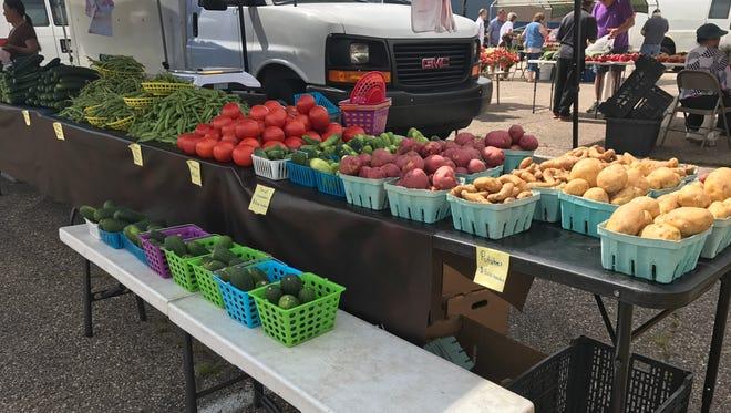 Farmers market vegetables