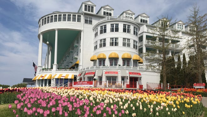 The Grand Hotel where the Detroit Regional Chamber's Mackinac Policy Conference is being held on Mackinac Island, Mich. on Wednesday, May 30, 2018.
