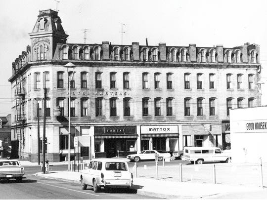 Clyde Mattox opened a men's clothing store on South Broad Street in 1931. Charles Goslin was vice-president and store manager when the store closed at 133 S. Broad St. in 1969. This photo shows the store's location in the Hotel Martens' business block just before it was razed in 1971.