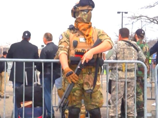 Armed members of militia groups from several states