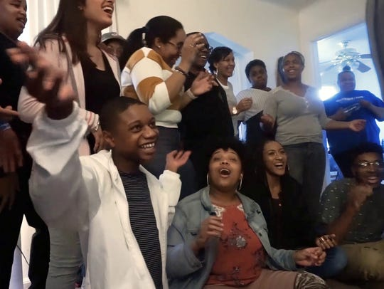 Young singers from the Detroit School of Arts are the