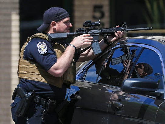 Louisville police responded Friday afternoon to the