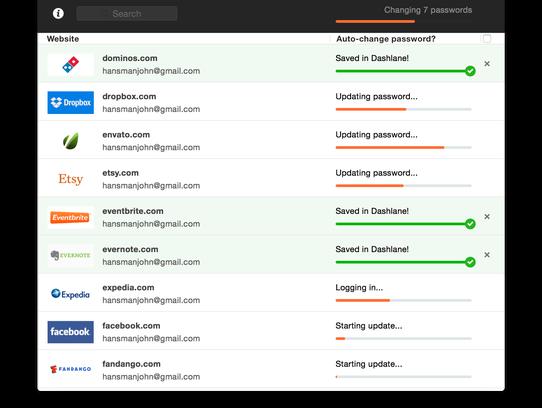 Screenshot of Dashlane's new password generator