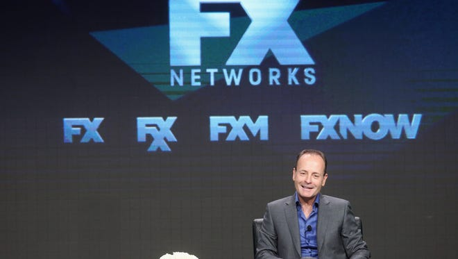 CEO of FX Networks & FX Productions John Landgraf speaks at the'Executive Session' panel during the FX portion of the 2016 Television Critics Association Summer Tour.