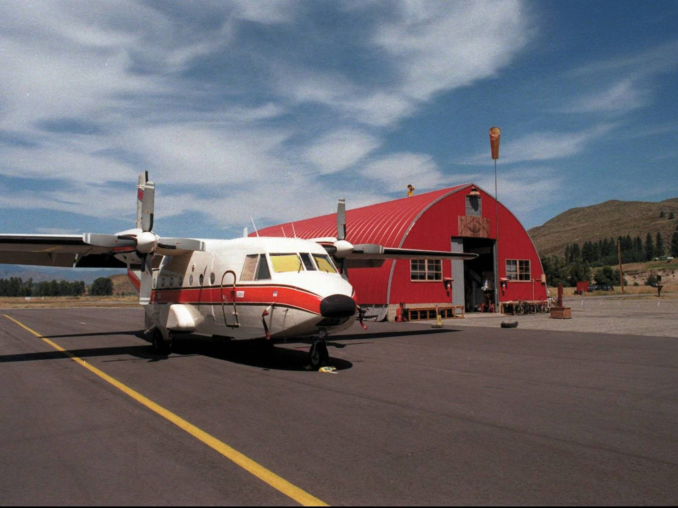 At the North Cascades, Wash.  Smokejumper Base a plane