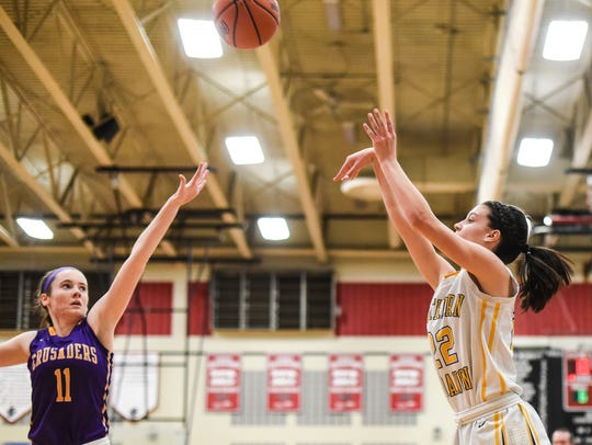 Northern Lebanon's Zara Zerman unlashes a three-pointer