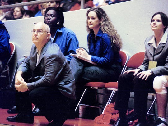 David Blackstock coaches Union University during the